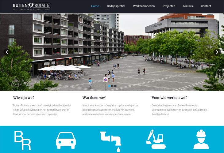 Ik heb de website van Buiten-Ruimte uit Veghel gebouwd in WordPress