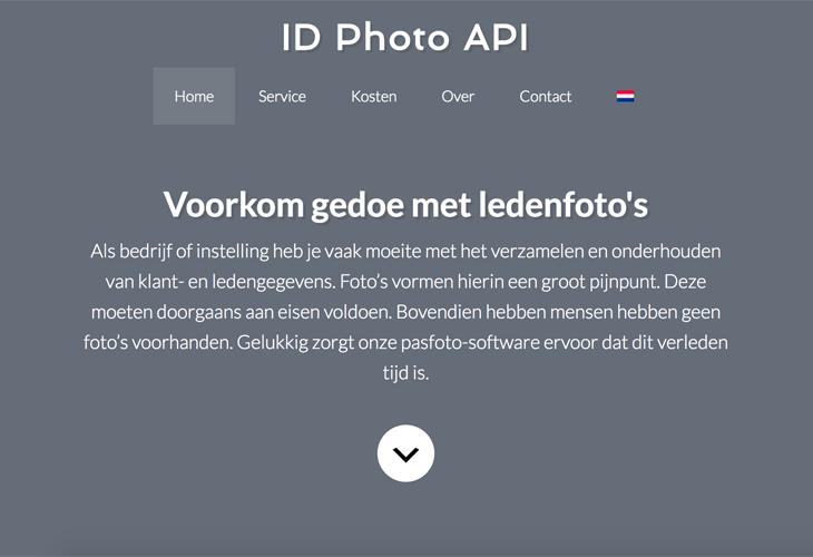 Ik heb de website van ID Photo software API uit Veghel gebouwd in WordPress