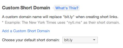 Bitly short-URL aanmaken