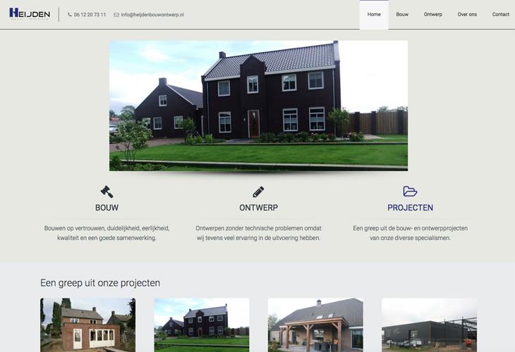 Ik heb de website van Heijden Bouw & Ontwerp gebouwd in WordPress