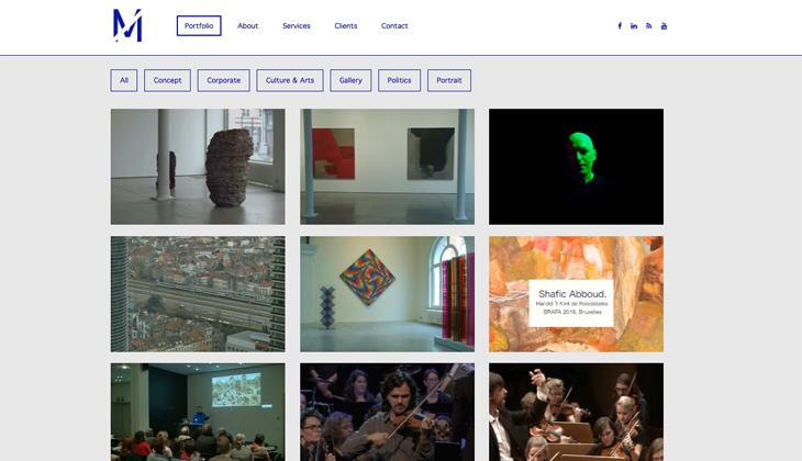 Ik heb de website van Messervideo uit Brussel gebouwd in WordPress