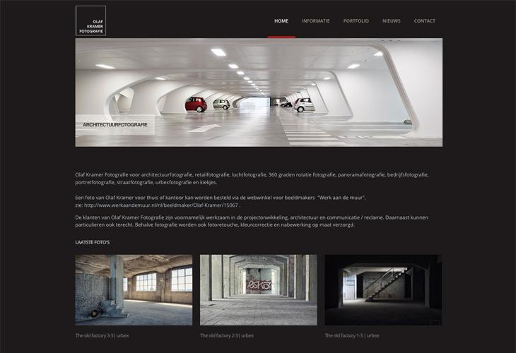 Ik heb de website van fotograaf Olaf Kramer uit Haarlem gebouwd in WordPress