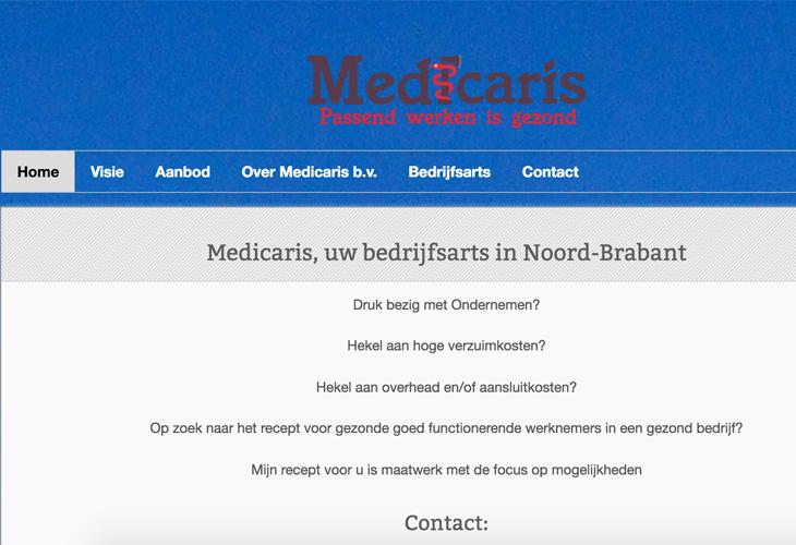 Ik heb de website van huisarts Medicaris uit Heeze gebouwd in WordPress