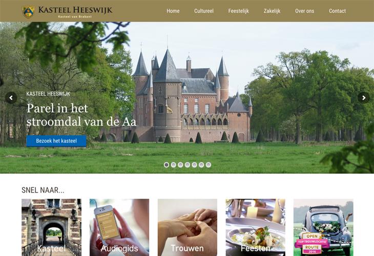 Ik heb de website van Kasteel Heeswijk uit Heeswijk-Dinther gebouwd in WordPress