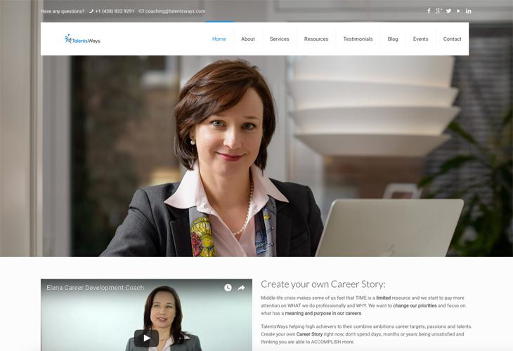 Ik heb de website van Talents Ways uit Canada gebouwd in WordPress