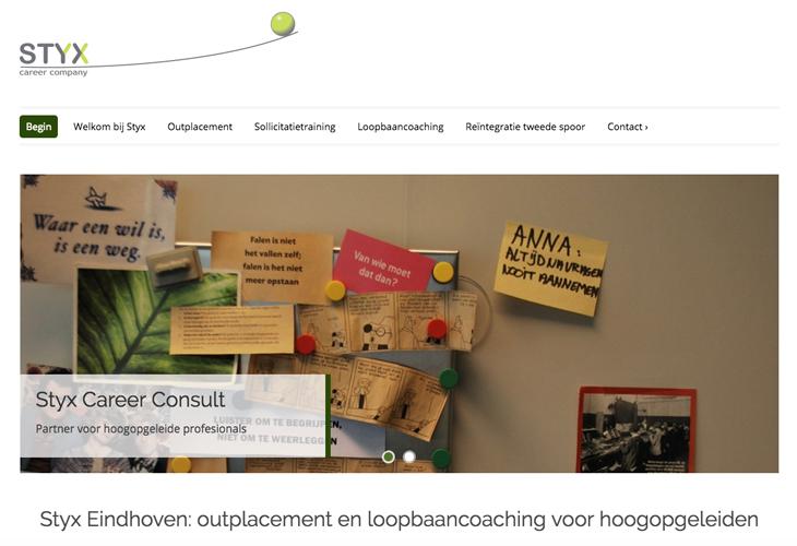 Ik heb de website van Styx Career Consult uit Eindhoven gebouwd in WordPress