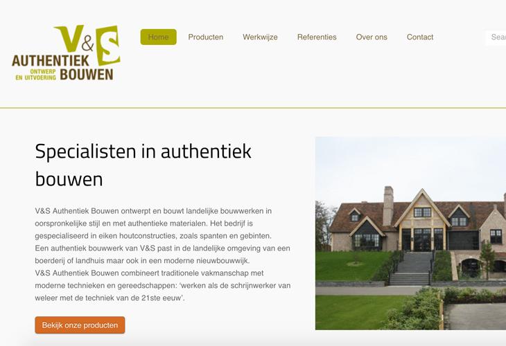 Ik heb de website van bouwspecialist V&S Authentiek Bouwen uit Heeswijk-Dinther gebouwd in WordPress