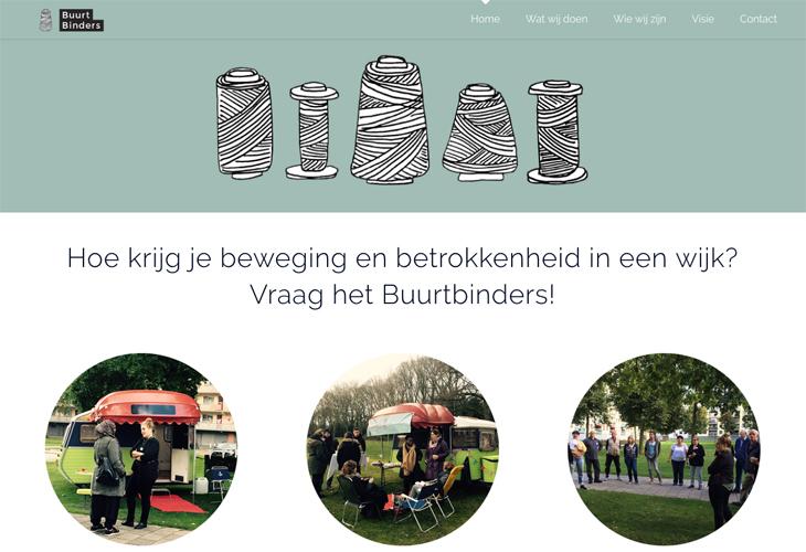 Ik heb de website van Buurtbinders uit Den Bosch gebouwd in WordPress