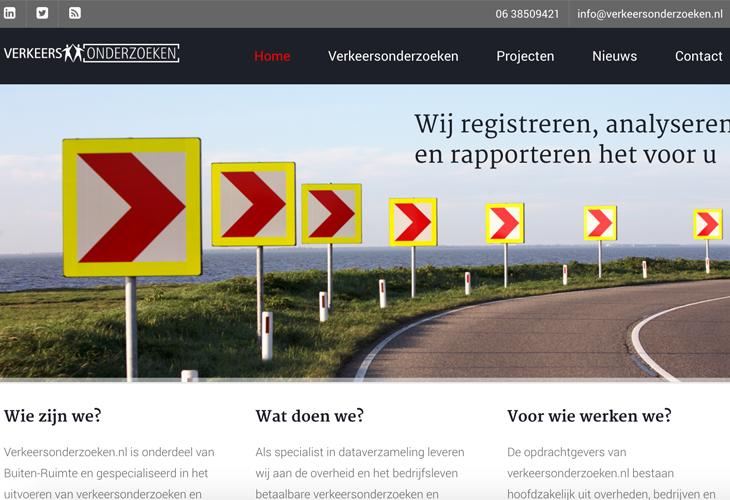 Ik heb de website van Verkeersonderzoeken uit Veghel gebouwd in WordPress