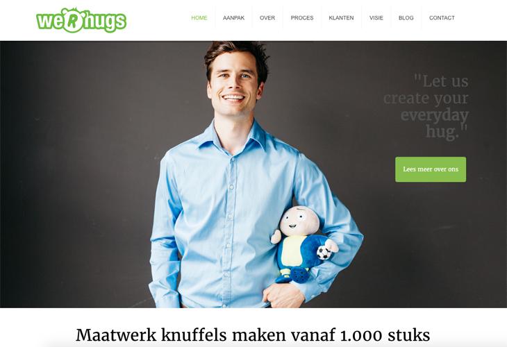 Ik heb de website van We R Hugs uit Uden gebouwd in WordPress