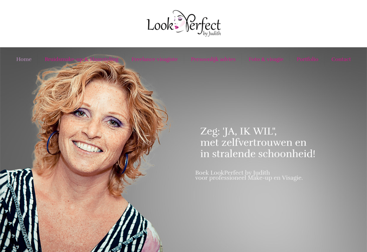Ik heb de website van Look Perfect gebouwd in WordPress